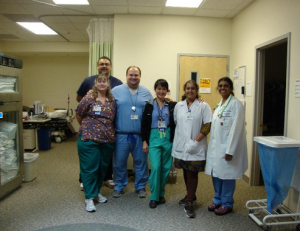 Dr. Patel with doctors at Kaiser Permanente
